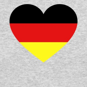 Germany Flag Love Heart Patriotic Symbol - Men's Long Sleeve T-Shirt by Next Level
