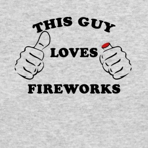 This Guy Loves Fireworks 4th Of July - Men's Long Sleeve T-Shirt by Next Level