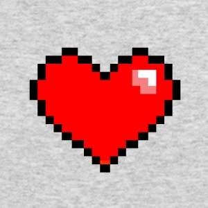 Pixel Heart - Men's Long Sleeve T-Shirt by Next Level