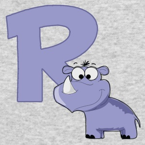 R Is For Rhino - Men's Long Sleeve T-Shirt by Next Level