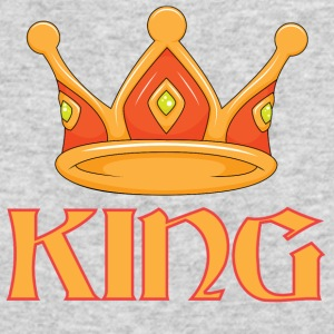 Light red king crown - Men's Long Sleeve T-Shirt by Next Level