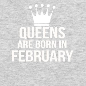 queens are born in february - Men's Long Sleeve T-Shirt by Next Level