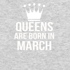 queens are born in march - Men's Long Sleeve T-Shirt by Next Level