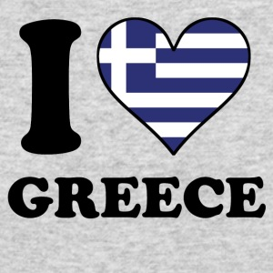 I Love Greece Greek Flag Heart - Men's Long Sleeve T-Shirt by Next Level