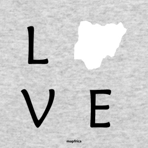 Love Nigeria (White Map) - Men's Long Sleeve T-Shirt by Next Level