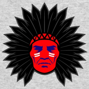 indian_chief_head_black - Men's Long Sleeve T-Shirt by Next Level
