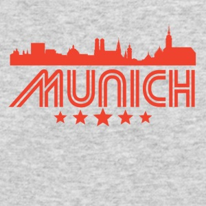 Retro Munich Skyline - Men's Long Sleeve T-Shirt by Next Level