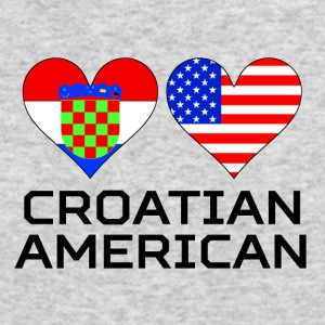 Croatian American Hearts - Men's Long Sleeve T-Shirt by Next Level