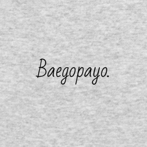 Baegopayo logo / I'm hungry in korean - Men's Long Sleeve T-Shirt by Next Level