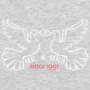 Mr And Mrs Since 1991 Married Marriage Engagement - Men's Long Sleeve T-Shirt by Next Level
