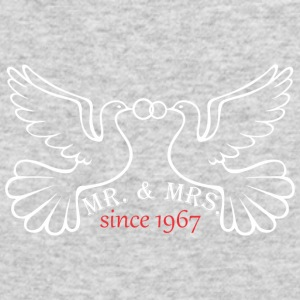 Mr And Mrs Since 1967 Married Marriage Engagement - Men's Long Sleeve T-Shirt by Next Level