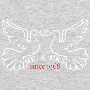 Mr And Mrs Since 1968 Married Marriage Engagement - Men's Long Sleeve T-Shirt by Next Level