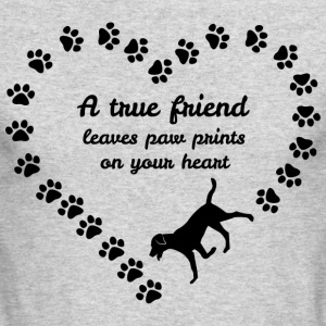 A True Friend Leaves Paw Prints On Your Heart Tees - Men's Long Sleeve T-Shirt by Next Level