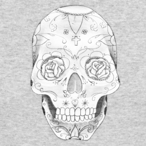 skull with roses in eyes - Men's Long Sleeve T-Shirt by Next Level