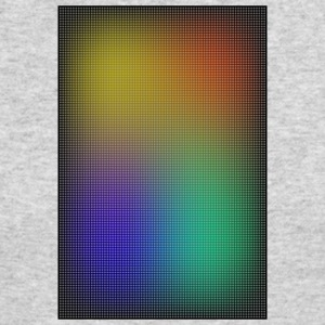gradient colored grid out of points - Men's Long Sleeve T-Shirt by Next Level