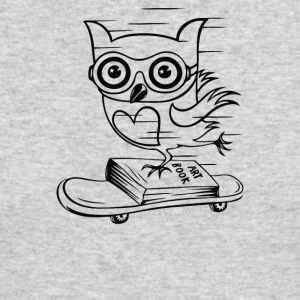 Owl With Skateboard - Men's Long Sleeve T-Shirt by Next Level