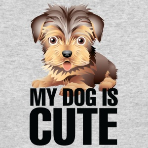 My_dog_is_cute_3_black - Men's Long Sleeve T-Shirt by Next Level