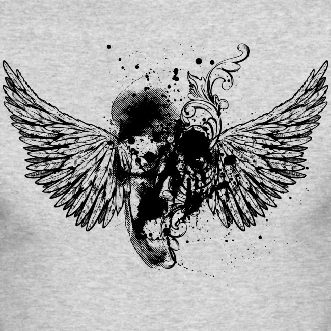 Cool Graffiti Abstract Skull Design Men S Long Sleeve T Shirt By Next Level