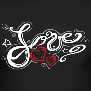 Love logo, Tribal and Tattoo style - Men's Long Sleeve T-Shirt by Next Level