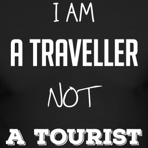 I am a traveller not a tourist - Men's Long Sleeve T-Shirt by Next Level