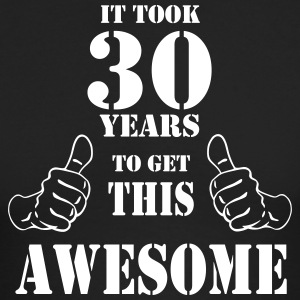 30th Birthday Get Awesome T Shirt Made in 1987 - Men's Long Sleeve T-Shirt by Next Level