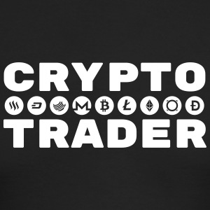 CRYPTO TRADER w/symbols (White print) - Men's Long Sleeve T-Shirt by Next Level