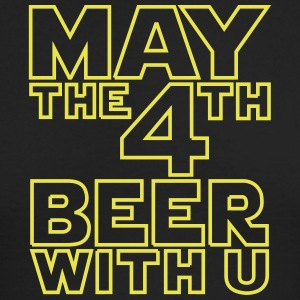 May the 4th beer with u Funny T-Shirt - Men's Long Sleeve T-Shirt by Next Level