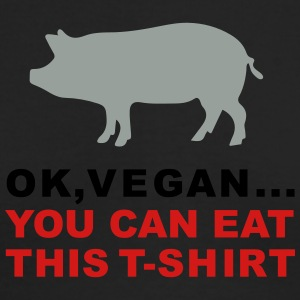 Ok, vegan... You can eat this t-shirt. Piggy 3c Ed - Men's Long Sleeve T-Shirt by Next Level
