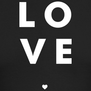 Love Stacked w/ A Heart (White Letters) - Men's Long Sleeve T-Shirt by Next Level