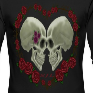 LOVE SKULLS ROSES - Men's Long Sleeve T-Shirt by Next Level