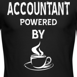 Accountant Powered By Coffee T Shirt - Men's Long Sleeve T-Shirt by Next Level