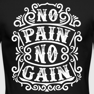 No pain no gain - Men's Long Sleeve T-Shirt by Next Level