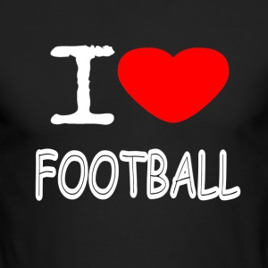 I LOVE FOOTBALL - Men's Long Sleeve T-Shirt by Next Level