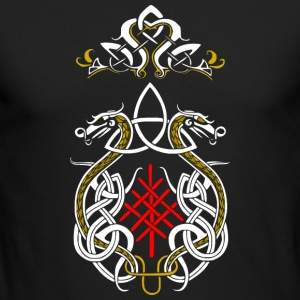Triquetra dragon - Men's Long Sleeve T-Shirt by Next Level