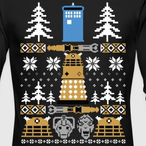 Doctor Who Ugly Sweater T-Shirt - Men's Long Sleeve T-Shirt by Next Level