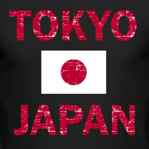 Tokyo Japan Flag designs - Men's Long Sleeve T-Shirt by Next Level