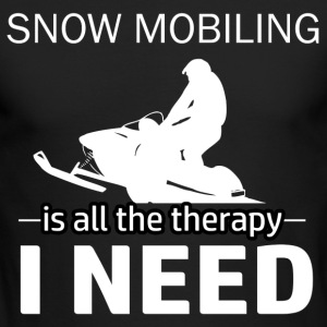 Snow Mobiling is my therapy - Men's Long Sleeve T-Shirt by Next Level