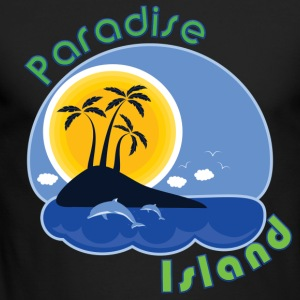 Paradise Island - Men's Long Sleeve T-Shirt by Next Level
