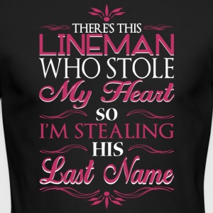 There's This Lineman Who Stolen My Heart T Shirt - Men's Long Sleeve T-Shirt by Next Level