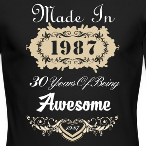 Made in 1987 30 years of being awesome - Men's Long Sleeve T-Shirt by Next Level