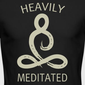 Heavily meditated - Men's Long Sleeve T-Shirt by Next Level
