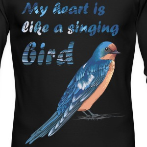 My heart like singing bird - Men's Long Sleeve T-Shirt by Next Level