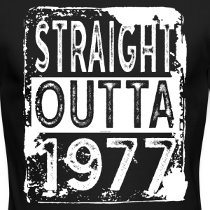 Funny 40th Birthday Gift: Straight Outta 1977 Tee - Men's Long Sleeve T-Shirt by Next Level