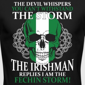The devil whispers You can't withstand the storm - Men's Long Sleeve T-Shirt by Next Level
