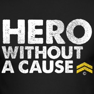 Hero Without a Cause Military Veteran T Shirt - Men's Long Sleeve T-Shirt by Next Level