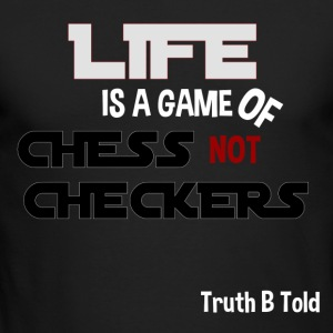 LIFE GAME OF CHESS - Men's Long Sleeve T-Shirt by Next Level