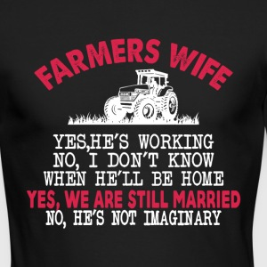 Farmer Wife T Shirt - Men's Long Sleeve T-Shirt by Next Level