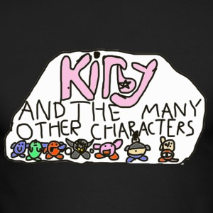 Kirby and the many other characters - Men's Long Sleeve T-Shirt by Next Level