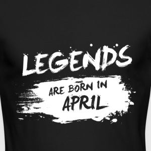 Legends are born in April - Men's Long Sleeve T-Shirt by Next Level