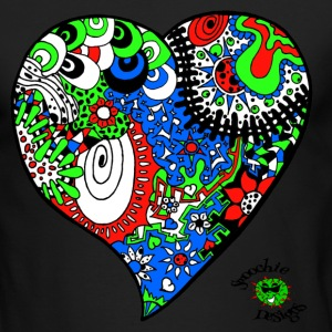 Funky heart design green blue red - Men's Long Sleeve T-Shirt by Next Level